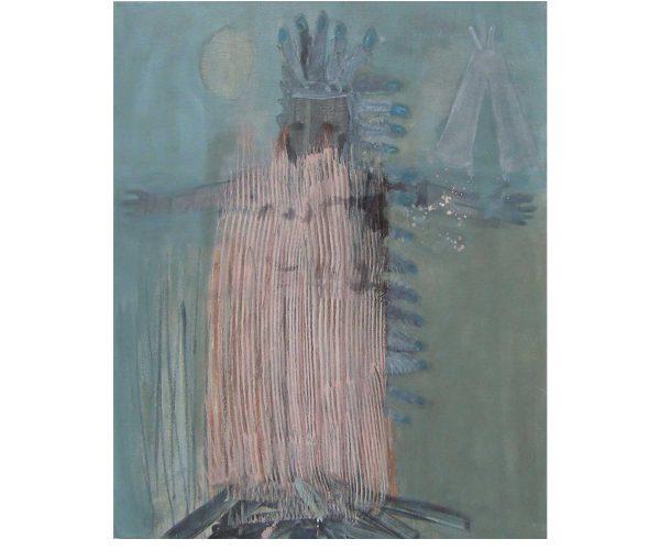 Indianer,  Öl/Eitempera auf Leinwand, 50x40 cm, 2013