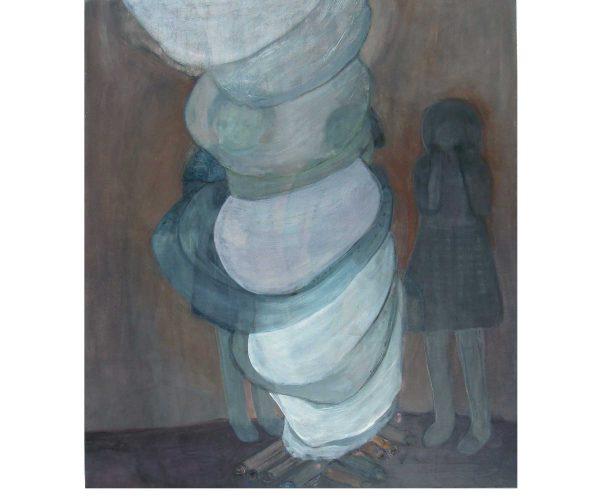 blurred vision,  Öl/Eitempera auf Leinwand, 120x105 cm, 2017