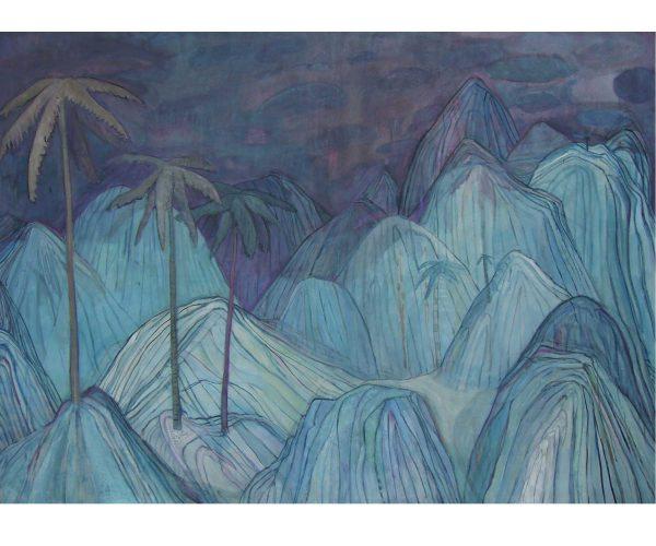 silent zone,  Öl/Eitempera auf Leinwand, 125x170 cm, 2016