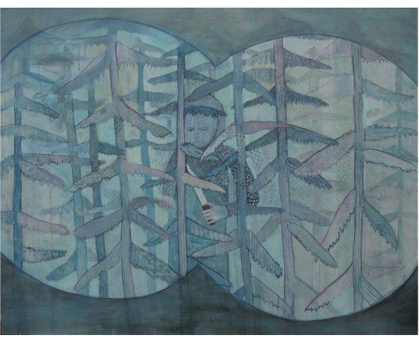 Auf der Jagd, Öl/Eitempera auf Leinwand, 110x140 cm, 2016