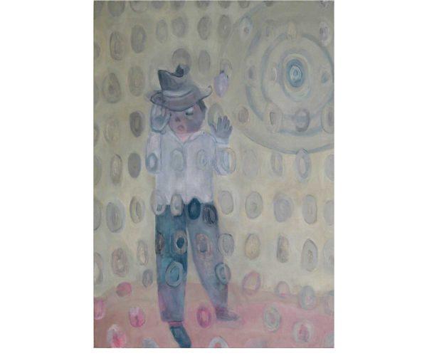 Jongleur,  Öl/Eitempera auf Leinwand, 100x70 cm, 2012