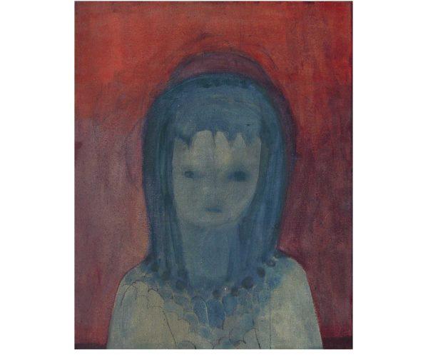 true blue,  Öl/Eitempera auf Leinwand, 50x40 cm, 2016