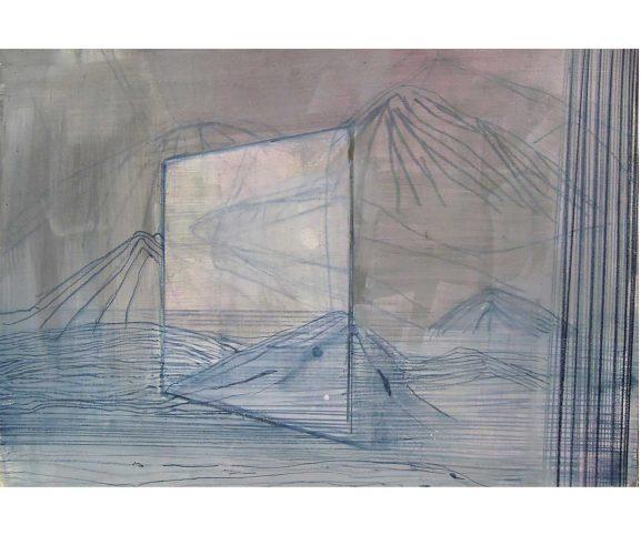 unreal glow, Mischtechnik auf Papier, 29,7x42 cm, 2016