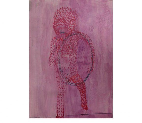Akrobat, Mischtechnik auf Papier, 29,7 x21 cm, 2017